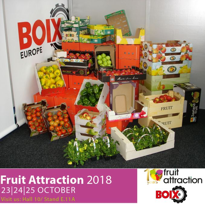 Boix will attend Fruit Attraction 2018 in Madrid
