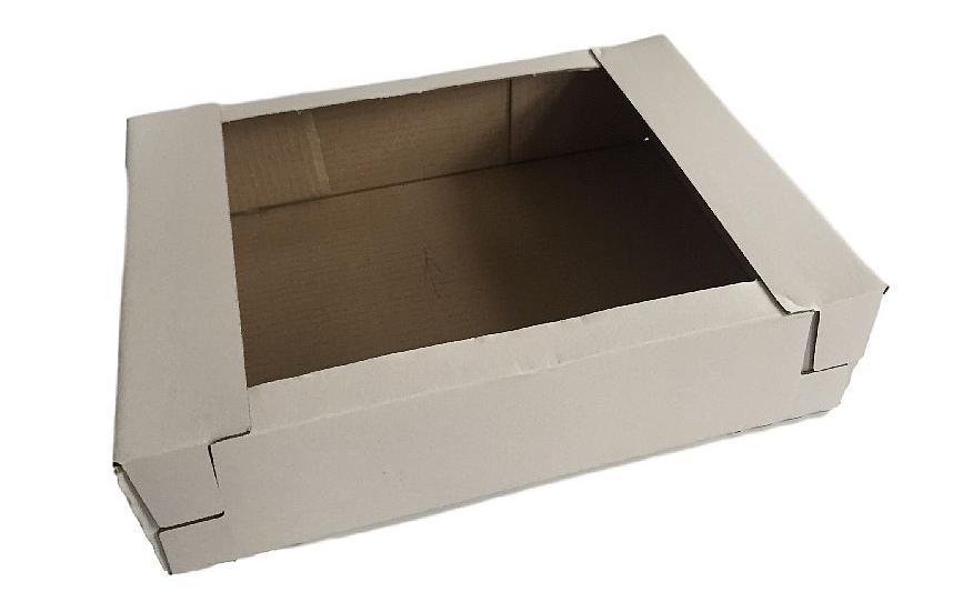 Stackable cardboard packaging for fragile and delicate bakery products